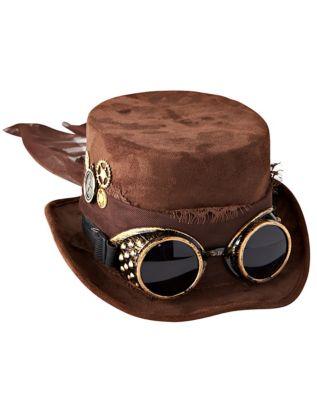 Steampunk Hats | Top Hats | Bowler Steampunk Top Hat by Spirit Halloween $21.99 AT vintagedancer.com