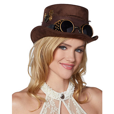 Steampunk Hats | Top Hats | Bowler Steampunk Top Hat $14.99 AT vintagedancer.com