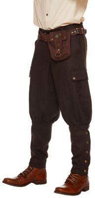 Men's Vintage Style Pants, Trousers, Jeans, Overalls Adult Steampunk Pants by Spirit Halloween $34.99 AT vintagedancer.com