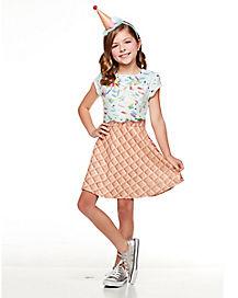 Kids Ice Cream Cone Sprinkle Dress Costume