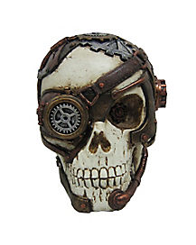 6 Inch Steampunk Skull - Decorations