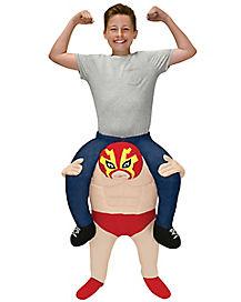 Kids Lucha Libre Piggyback Costume