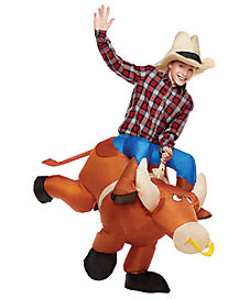 Kids Inflatable Ride On Bull Costume