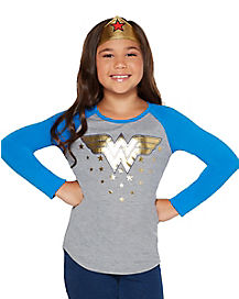 Kids Wonder Woman Raglan T Shirt - DC Comics