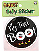My First Boo Belly Sticker