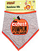 Baby The Cutest Pumpkin In The Patch Bib