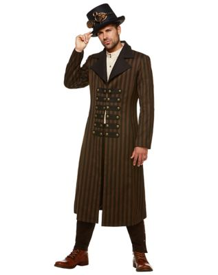 Men's Steampunk Jackets, Coats & Suits Steampunk Trench Coat by Spirit Halloween $74.99 AT vintagedancer.com