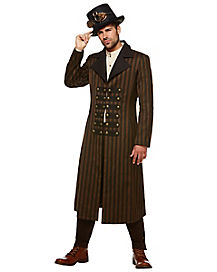 steampunk trench coat - Classic Mens Halloween Costumes