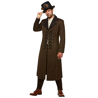 Steampunk Jacket, Coat, Overcoat, Cape Steampunk Trench Coat $69.99 AT vintagedancer.com
