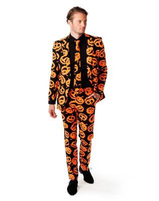 60s -70s  Men's Costumes : Hippie, Disco, Beatles Adult Jack-O-Lantern Suit by Spirit Halloween $59.99 AT vintagedancer.com