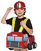 Toddler Helmet and Light Up Firetruck Ridealong Set