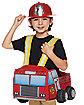 Toddler Helmet and Light Up Firetruck Ridealong Set