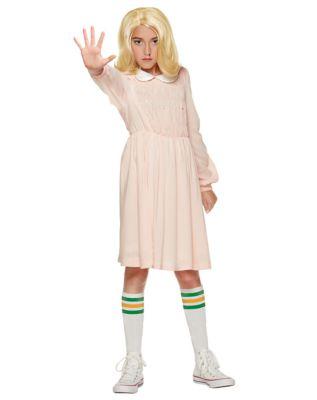 60s 70s Kids Costumes & Clothing Girls & Boys Kids Eleven Dress Costume - Stranger Things by Spirit Halloween $39.99 AT vintagedancer.com