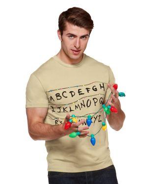 Stranger Things adult alphabet wall t shirt