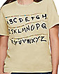 Adult Alphabet Wall T Shirt - Stranger Things