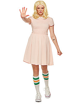 Adult Short-Sleeved Eleven Costume - Stranger Things
