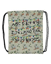 Alphabet Wall Cinch Bag Stranger Things