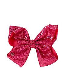 Kids Pink Sequin Hair Bow - JoJo Siwa