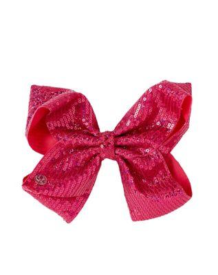 kids pink sequin hair bow jojo siwa