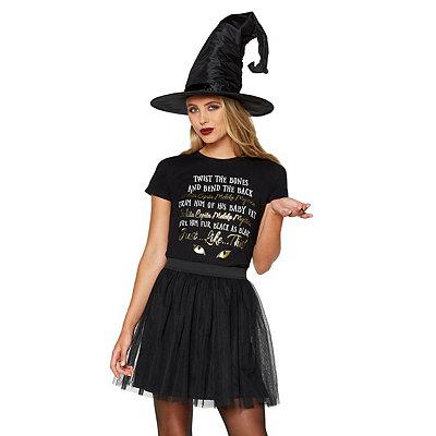 Vintage Retro Halloween Themed Clothing Twisted Bones Binx Spell T Shirt - Hocus Pocus $16.99 AT vintagedancer.com
