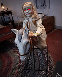 3 Ft Rocking Horse Dolly Animatronics - Decorations