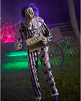 6 Ft Hugz the Clown Animatronics – Decorations