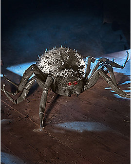 1.9 Ft Roaming Spider Animatronics with Remote Control – Decorations