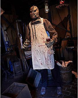 6 Ft Burlap Horror Scarecrow Animatronics - Decorations