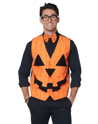 Vintage Retro Halloween Themed Clothing Light Up Pumpkin Vest by Spirit Halloween $39.99 AT vintagedancer.com