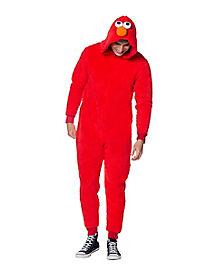 Adult Elmo Pajama Costume - Sesame Street