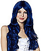 Denim Blue Curls Wig