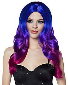 Tri-Colored Oil Slick Curls Wig