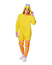 Adult Big Bird Pajama Costume - Sesame Street