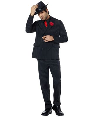 1940s Men's Costumes: WW2, Sailor, Zoot Suits, Gangsters, Detective Adult Gangster Suit Costume $49.99 AT vintagedancer.com