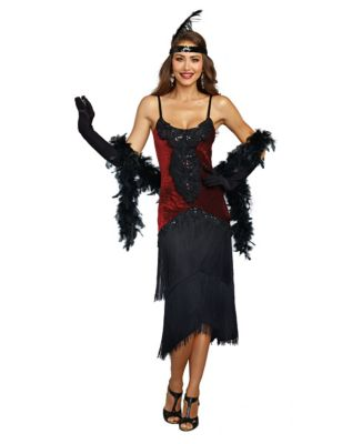 Roaring 20s Costumes- Flapper Costumes, Gangster Costumes Adult Million Dollar Baby Flapper Costume $59.99 AT vintagedancer.com