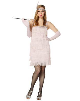 Roaring 20s Costumes- Flapper Costumes, Gangster Costumes Adult Fancy Flapper Costume by Spirit Halloween $29.99 AT vintagedancer.com