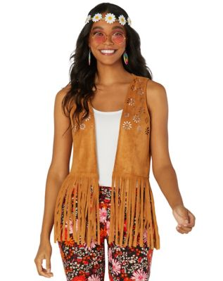 60s Shirts, T-shirt, Blouses | 70s Shirts, Tops, Vests Fringe Hippie Vest by Spirit Halloween $16.99 AT vintagedancer.com