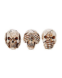 3 Inch Mini Skull Trio - Decorations