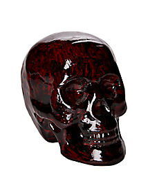 8 Inch Red and Black Skull - Decorations