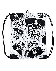 Realistic Skull Cinch Bag