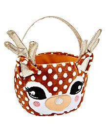 Deer Plush Treat Bucket