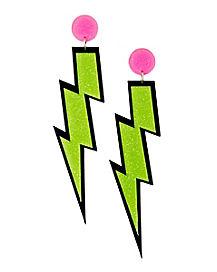 Lightning Bolt Dangle Earrings