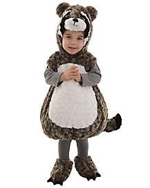 Toddler Raccoon Belly Costume