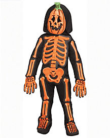 Toddler Skeleton Jack-O-Lantern Costume