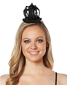Black Queen Crown Fascinator