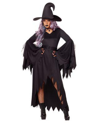 1930s Costumes- Bride of Frankenstein, Betty Boop, Olive Oyl, Bonnie & Clyde Adult Gothic Witch Costume by Spirit Halloween $29.99 AT vintagedancer.com