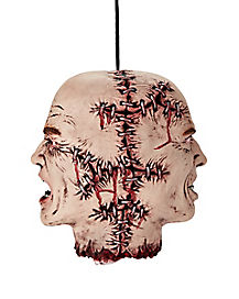 Stitched Faces Hanging Head - Decorations