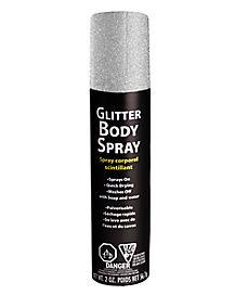 Silver Glitter Body Spray