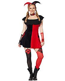3a5216a9bc7 Adult Velvet Harley Quinn Dress – DC Comics