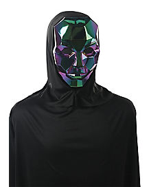 Iridescent Metallic Hooded Mask